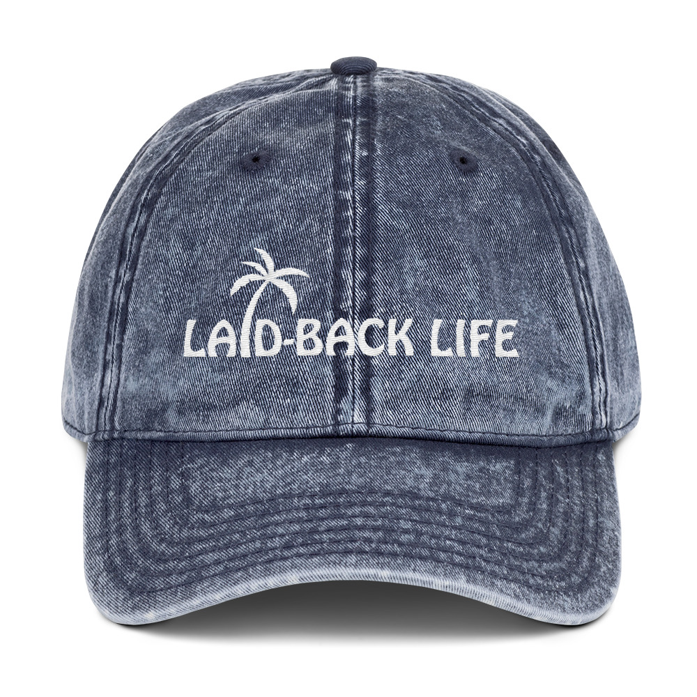 Laid-Back Palm Vintage Cotton Twill Cap